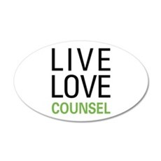 Live Love Counsel Wall Decal