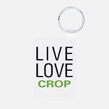 Live Love Crop Keychains