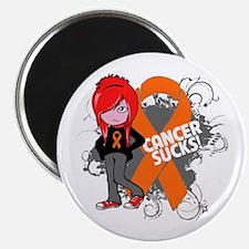 Leukemia CANCER SUCKS Magnet