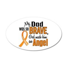 Dad Leukemia Shirts and Apparel 22x14 Oval Wall Pe