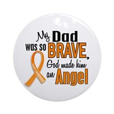 Dad Leukemia Shirts and Apparel Ornament (Round)