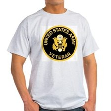Grey Army Veteran T-Shirt<BR>Gold/Black
