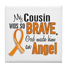 Cousin Leukemia Shirts and Apparel Tile Coaster