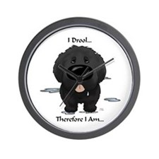 Newfie I Drool Wall Clock