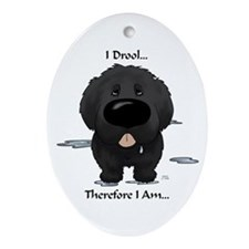 Newfie I Drool Ornament (Oval)
