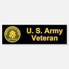 Army Veteran Bumper Car Car Sticker