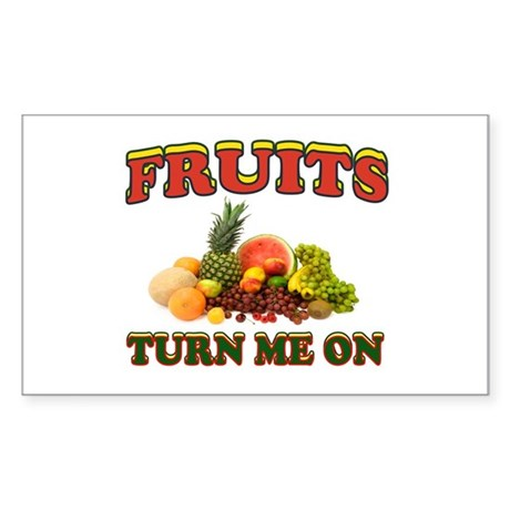 LUV FRUITS Sticker (Rectangle)