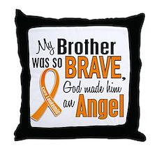 Brother Leukemia Shirts and Apparel Throw Pillow