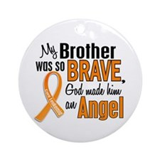 Brother Leukemia Shirts and Apparel Ornament (Roun