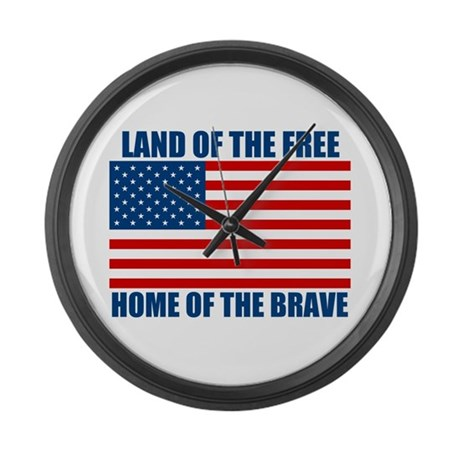 Home of the Brave Large Wall Clock