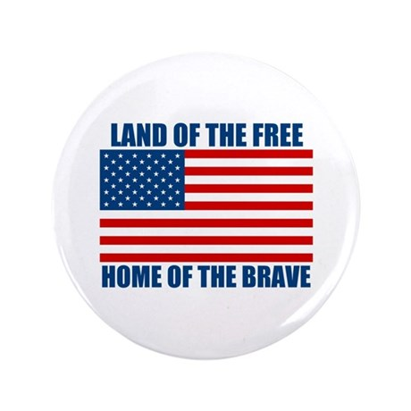 """Home of the Brave 3.5"""" Button (100 pack)"""