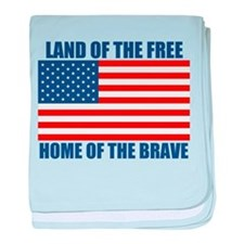 Home of the Brave baby blanket