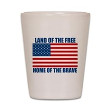 Home of the Brave Shot Glass