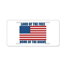 Home of the Brave Aluminum License Plate