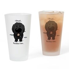 Newfie I Drool Drinking Glass
