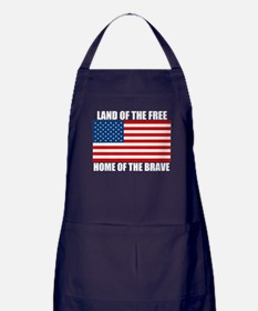 Home of the Brave Apron (dark)