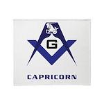 Masonic Capricorn Sign Throw Blanket
