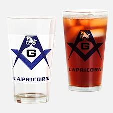 Masonic Capricorn Sign Drinking Glass