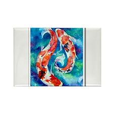 Koi Fish 2 Rectangle Magnet