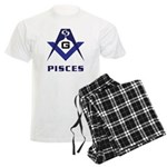Masonic Pisces Sign Men's Light Pajamas