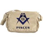 Masonic Pisces Sign Messenger Bag