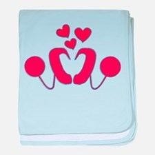 Cochlear Implant Love baby blanket