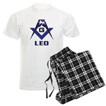 Masonic Leo Sign Men's Light Pajamas