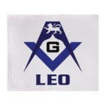 Masonic Leo Sign Throw Blanket