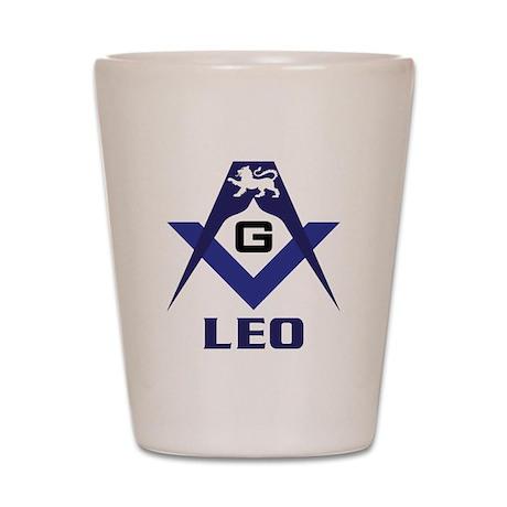 Masonic Leo Sign Shot Glass