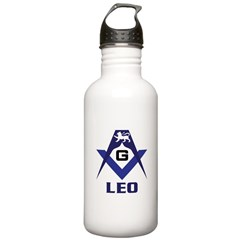Masonic Leo Sign Water Bottle