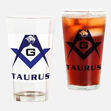 Masonic Taurus Sign Drinking Glass