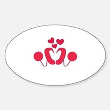 Cochlear Implant Love Sticker (Oval)