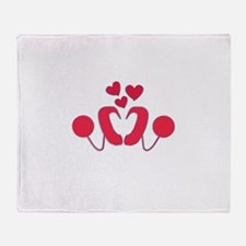 Cochlear Implant Love Throw Blanket