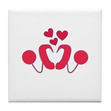 Cochlear Implant Love Tile Coaster