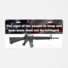 2nd Amendment - M16A4 - Aluminum License Plate