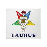 OES Taurus Sign Throw Blanket