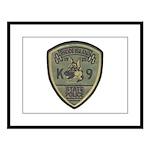 RI State Police K9 Large Framed Print