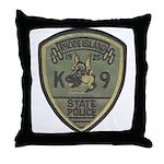RI State Police K9 Throw Pillow