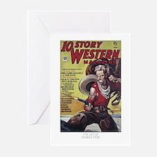 Western,cowboy comic,gun Greeting Cards (Pk of 20)