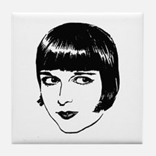 Cute Louise brooks Tile Coaster