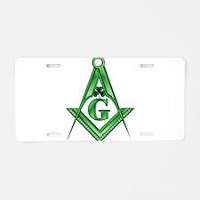 Masonic Shamrock with the S&C Aluminum License Pla