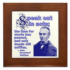 Speak Out In Acts Framed Tile