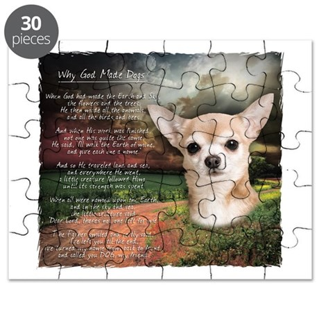 """""""Why God Made Dogs"""" Chihuahua Puzzle"""
