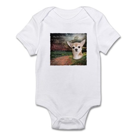 """""""Why God Made Dogs"""" Chihuahua Infant Bodysuit"""