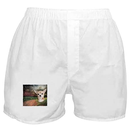 """Why God Made Dogs"" Chihuahua Boxer Shorts"