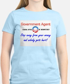Government Agent Women's Pink T-Shirt