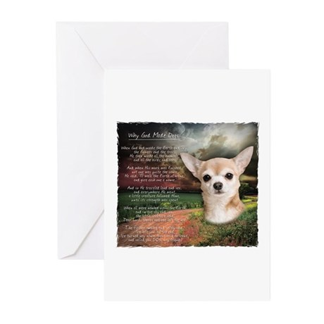 """Why God Made Dogs"" Chihuahua Greeting Cards (Pk o"