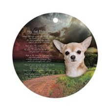 """""""Why God Made Dogs"""" Chihuahua Ornament (Round)"""