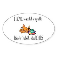 Baked or Fried Oval Decal