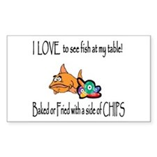 Baked or Fried Rectangle Decal